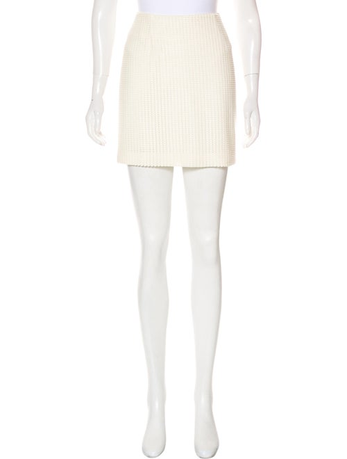 Sally LaPointe Textured Mini Skirt