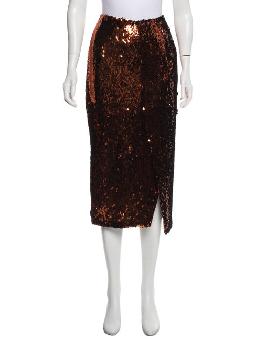 Sally LaPointe Sequined Evening Skirt