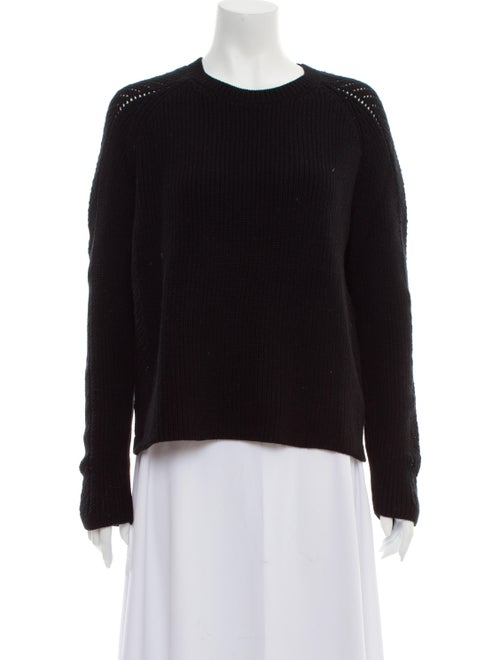 Sally LaPointe Crew Neck Sweater Black