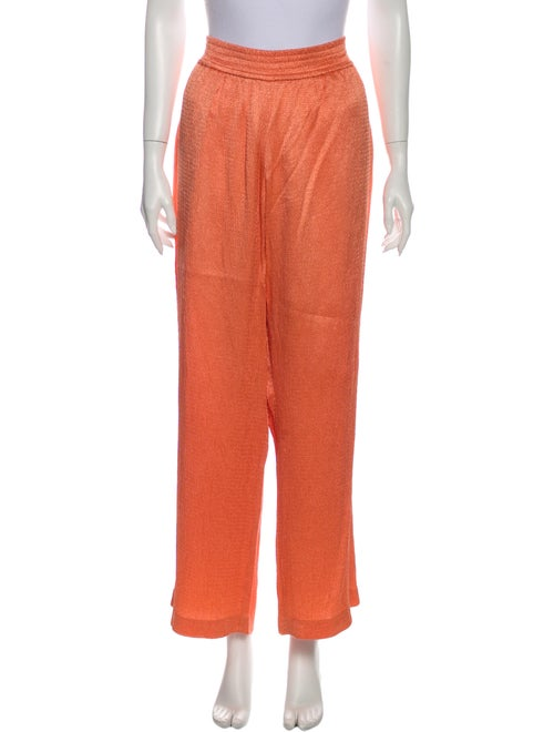 Sally LaPointe Wide Leg Pants Orange