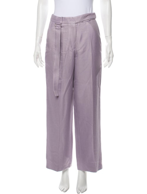 Sally LaPointe Wide Leg Pants Purple