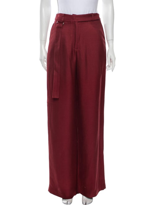 Sally LaPointe Wide Leg Pants Red