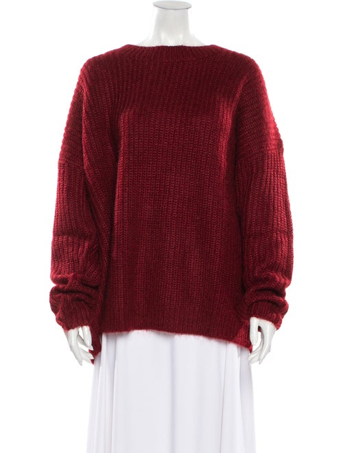 Sally LaPointe Crew Neck Sweater Red