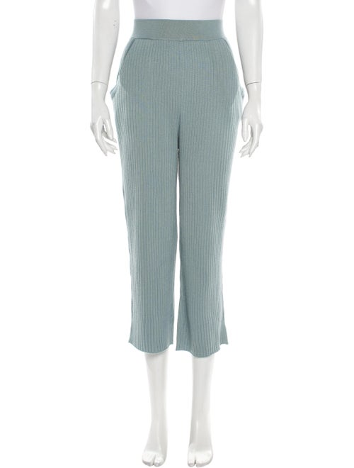 Sally LaPointe Cashmere Wide Leg Pants Blue