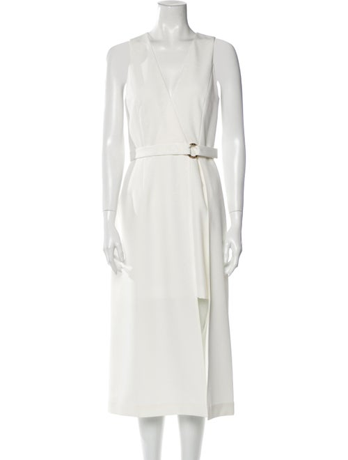 Sally LaPointe V-Neck Long Dress