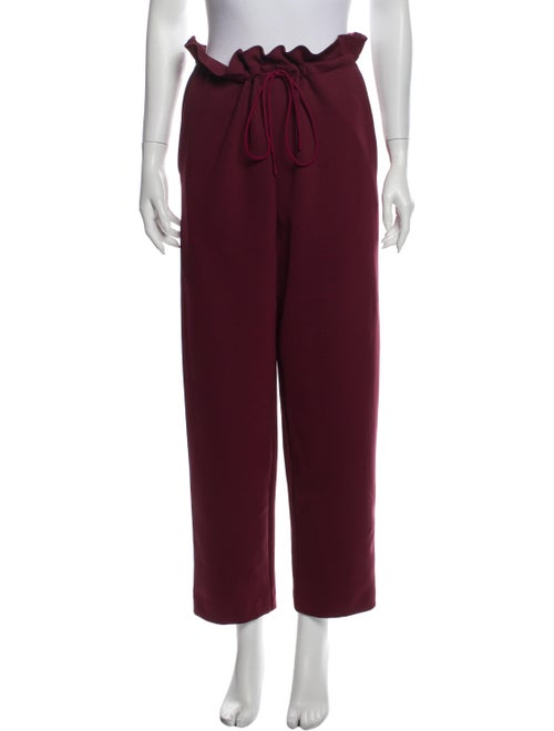 Sally LaPointe Straight Leg Pants Red