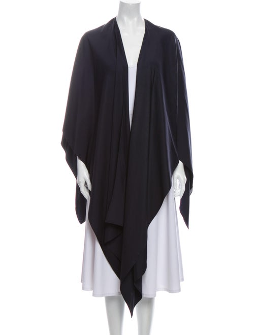 Sally LaPointe Silk Cape Blue