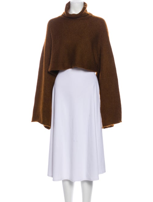 Sally LaPointe Turtleneck Sweater Brown