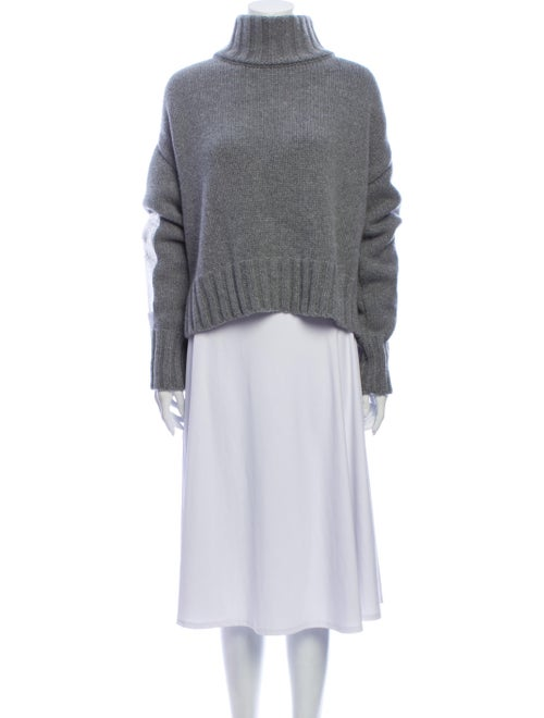 Sally LaPointe Wool Turtleneck Sweater Wool
