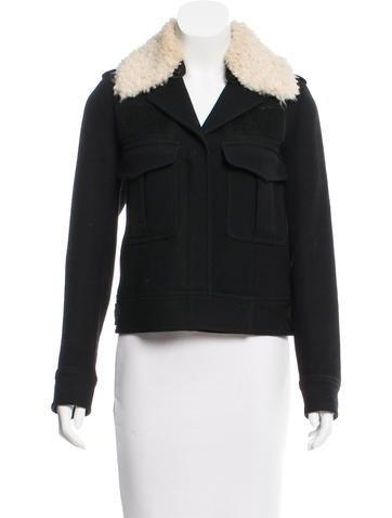 Smythe Faux Fur-Trimmed Wool Jacket