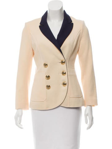 Smythe Double-Breasted Wool Blazer None