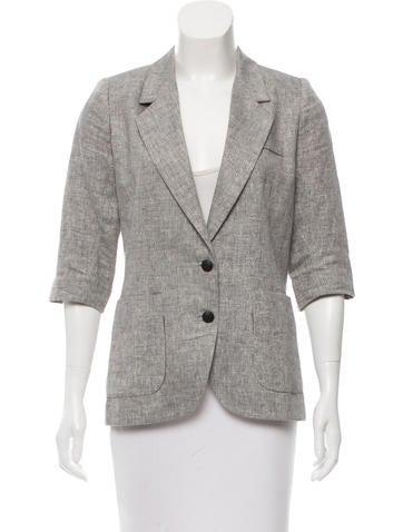 Smythe Textured Button-Up Blazer None