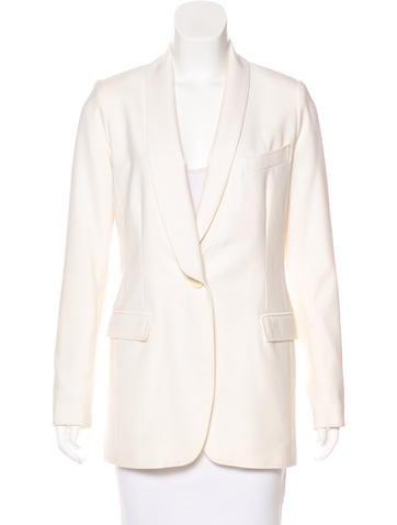 Smythe Wool Button-Up Blazer None