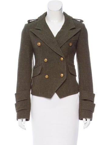 Smythe Cropped Wool Blazer None