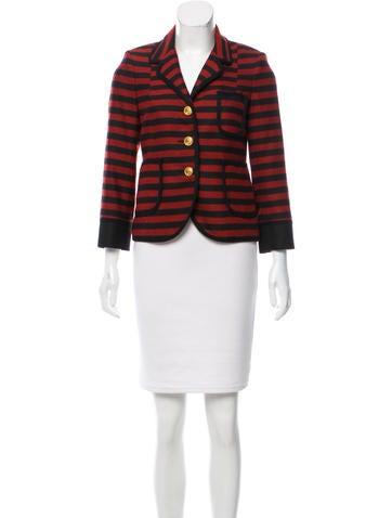 Smythe Striped Wool Blazer None