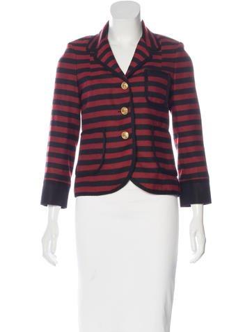 Smythe Wool Striped Blazer w/ Tags None