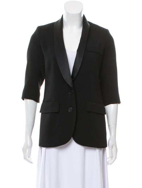 Smythe Structured Shawl Collar Blazer Black