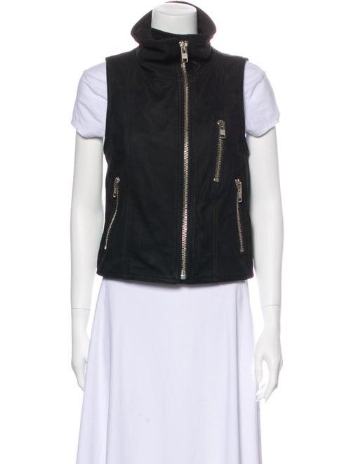Smythe Leather Vest Black
