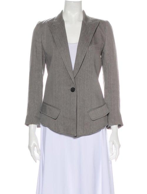 Smythe Linen Blazer Grey