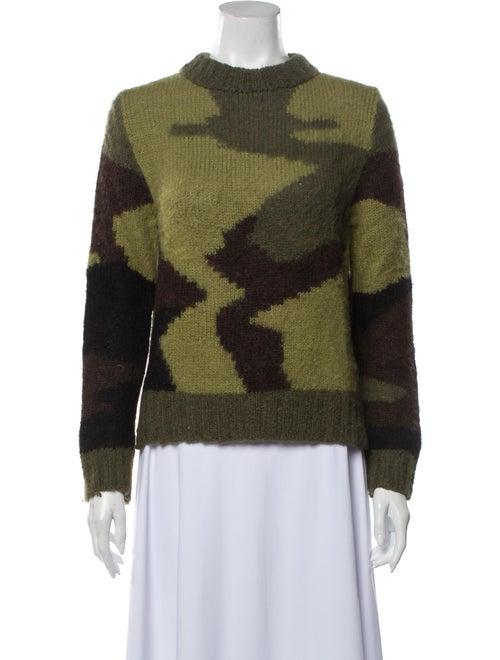 Smythe Alpaca Printed Sweater Green