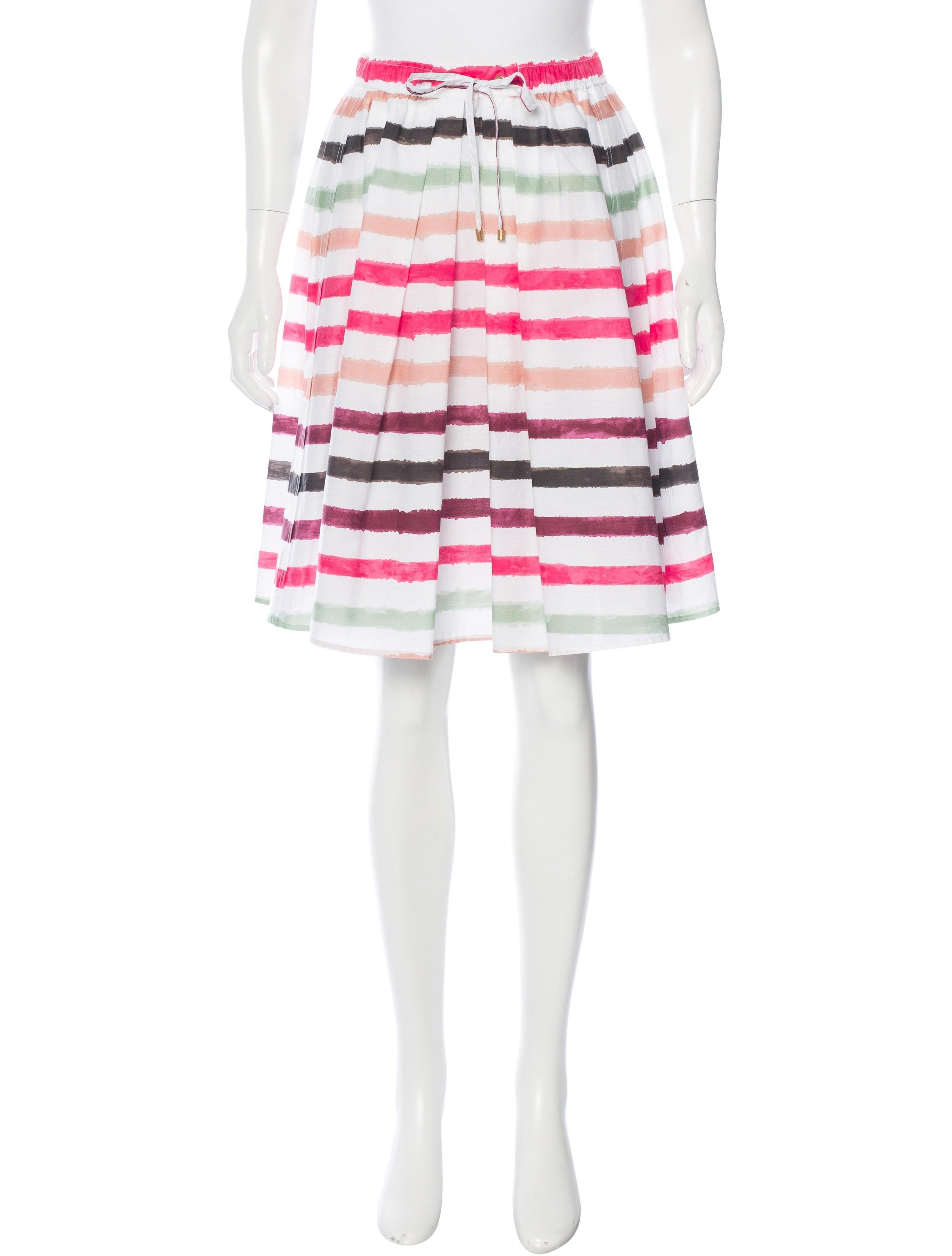 s 244 nia bogner striped a line skirt clothing snb20033