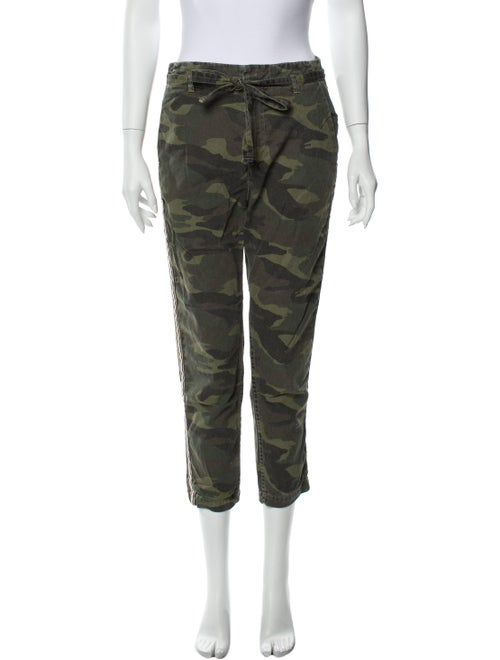 Sundry Printed Straight Leg Pants Green