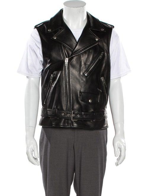Saint Laurent Lamb Leather Vest Black