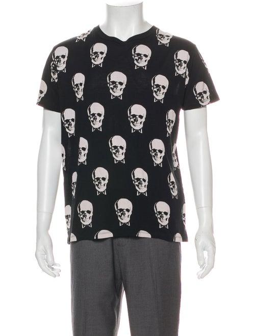 Saint Laurent Skull Printed T-Shirt Black