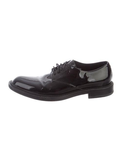 Saint Laurent Patent Leather Derby Shoes Black