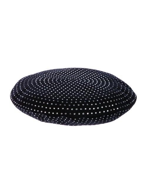 Saint Laurent Strass Wool Beret w/ Tags Black - image 1