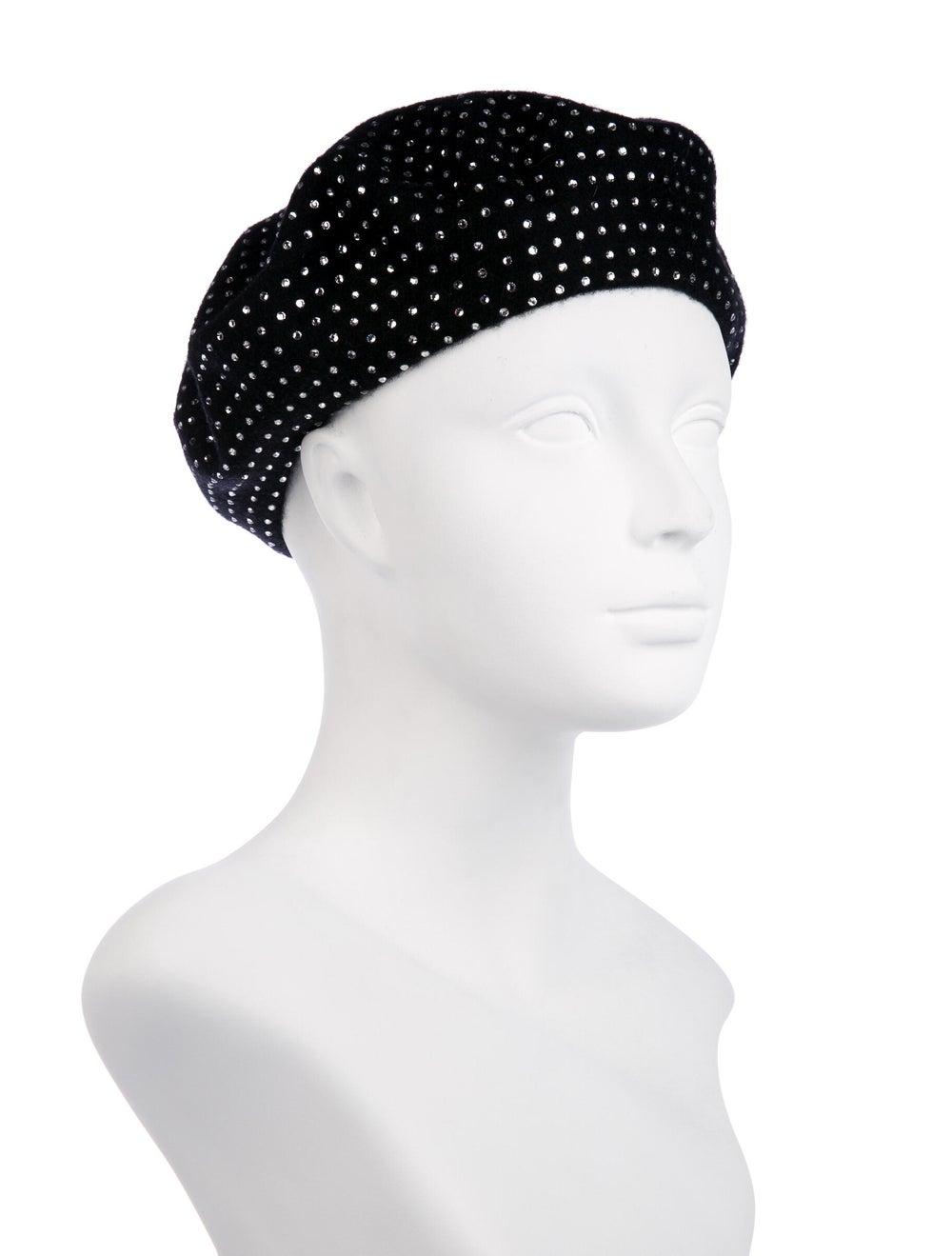Saint Laurent Strass Wool Beret w/ Tags Black - image 3