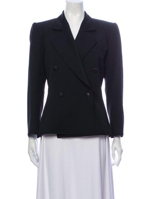 Saint Laurent Vintage 1980's Blazer Black