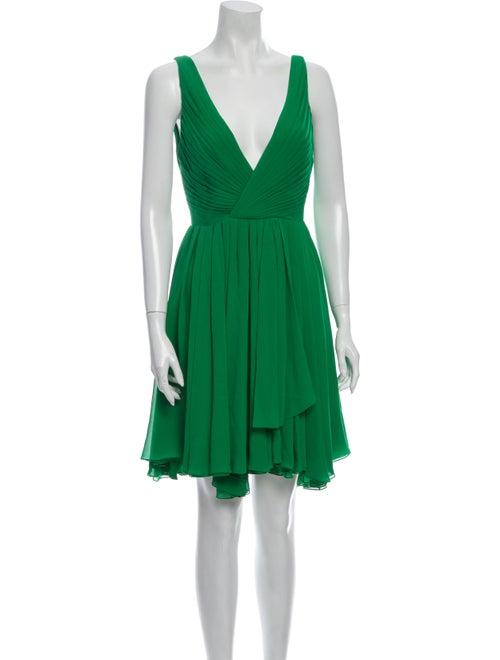 Saint Laurent Silk Mini Dress w/ Tags Green