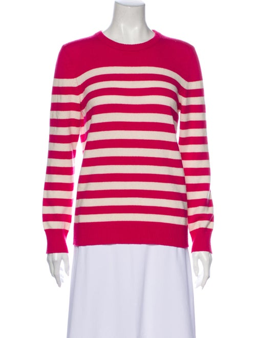 Saint Laurent Cashmere Striped Sweater Pink