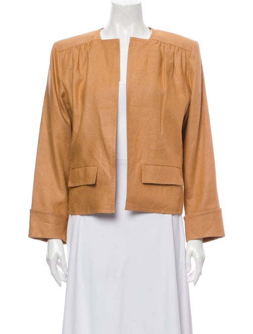 Saint Laurent Linen Jacket Orange