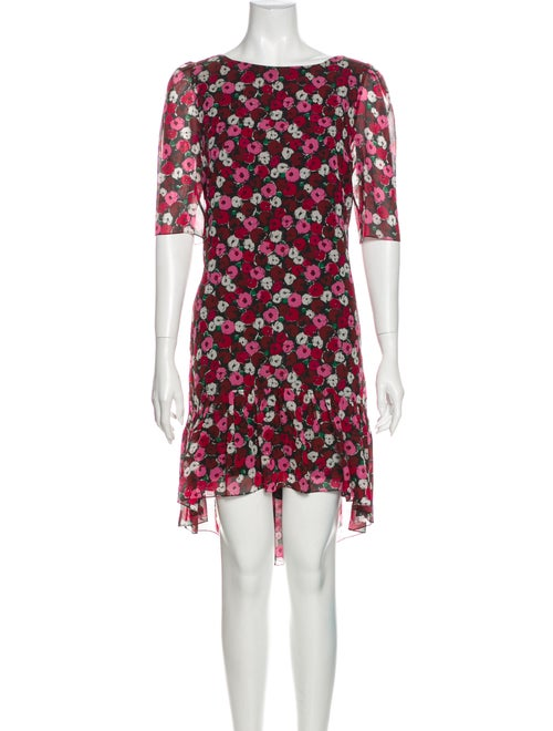 Saint Laurent 2016 Mini Dress Red
