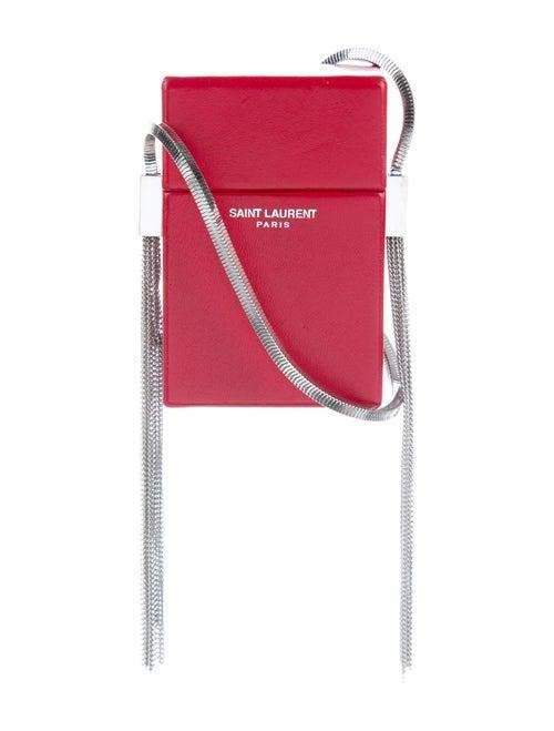Saint Laurent Smoking Box Crossbody Bag Red