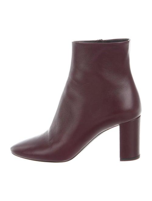 Saint Laurent Leather Boots Purple