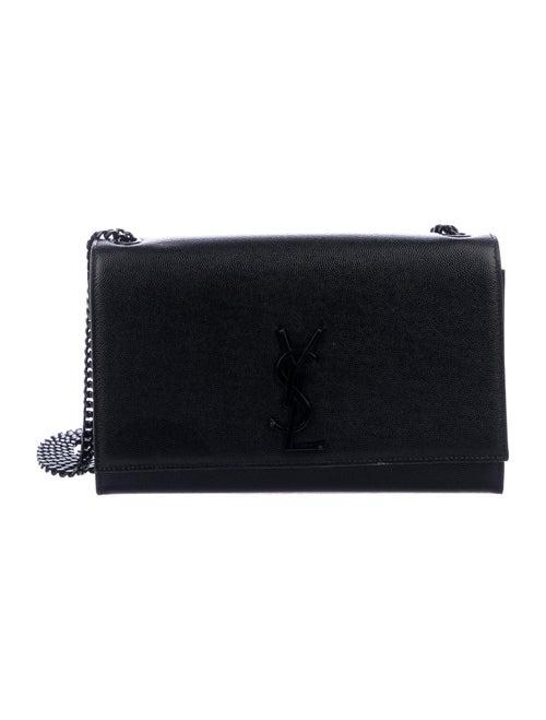 Saint Laurent Medium Monogram Kate Bag Black