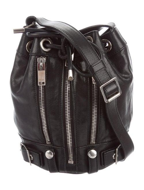 Saint Laurent Rider Moto Bucket Bag Black