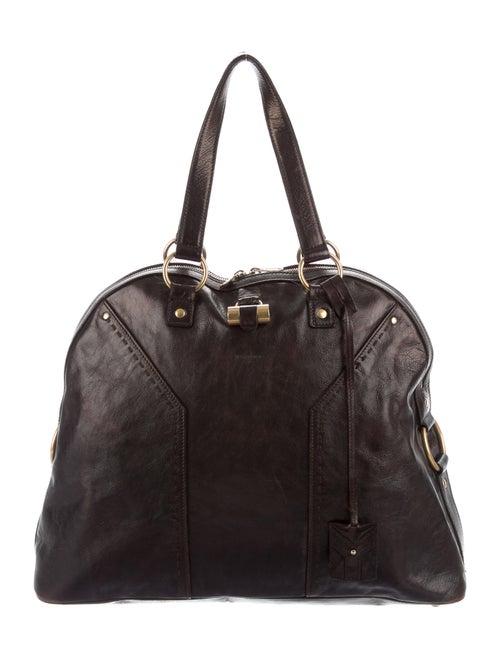 Saint Laurent Leather Muse Bag Brown