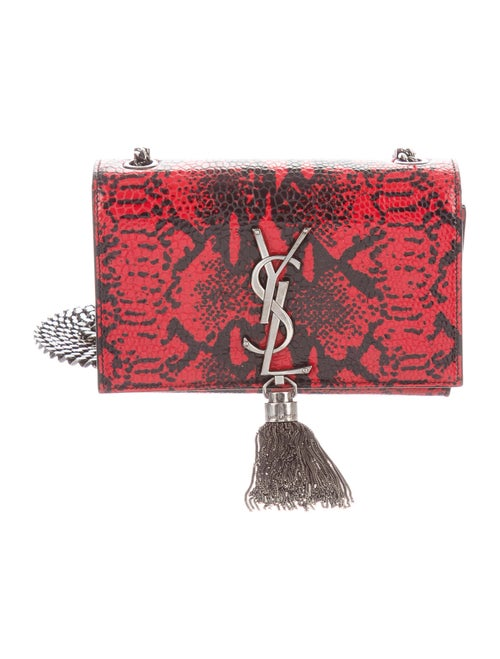 Saint Laurent Mini Embossed Kate Bag Red