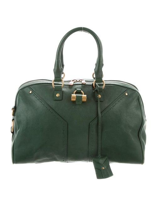 Saint Laurent Muse Leather Shoulder Bag Green