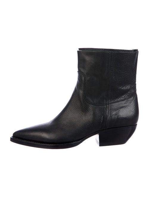Saint Laurent Cowboy Leather Boots Black