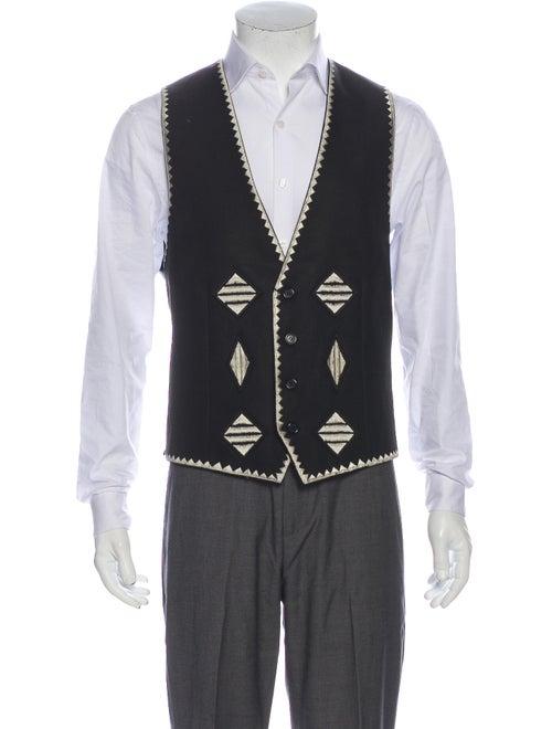 Saint Laurent 2017 Linen Suit Vest w/ Tags Black