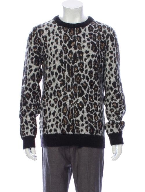 Saint Laurent 2016 Metallic Leopard Pullover Metal