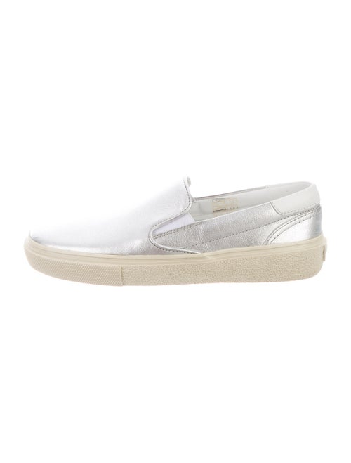 Saint Laurent Bufalino Lame Sneakers w/ Tags Silve