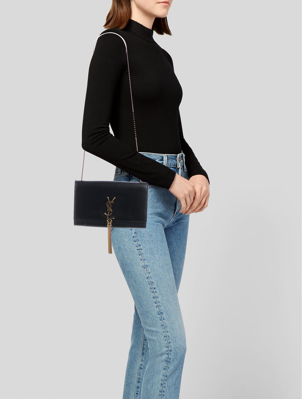 Saint Laurent Kate Tassel Small Bag Black - image 2