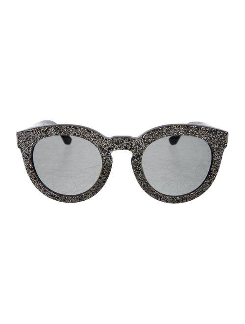 Saint Laurent Glitter Round Sunglasses Gold