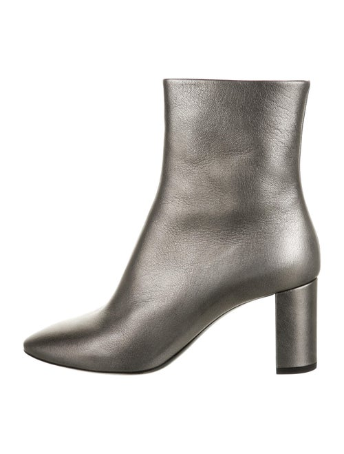 Saint Laurent Leather Boots Grey